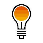 281018 Light Bulb R Orange