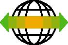 281383 Globe Arrows R Green