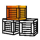 286463 Crate R Orange