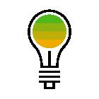 281018 Light Bulb R Green