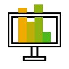 281267 Monitor Bar Graph R Green