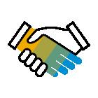 281560 Handshake R Blue